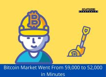 Bitcoin Market Went From 59,000 to 52,000 in Minutes<