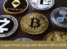 Crypto Prices Surge With Bitcoin off to $50K