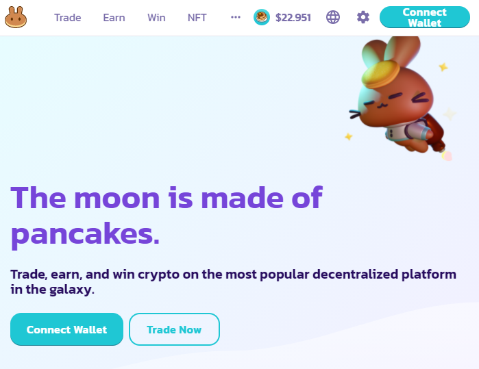 Connect your wallet on PancakeSwap